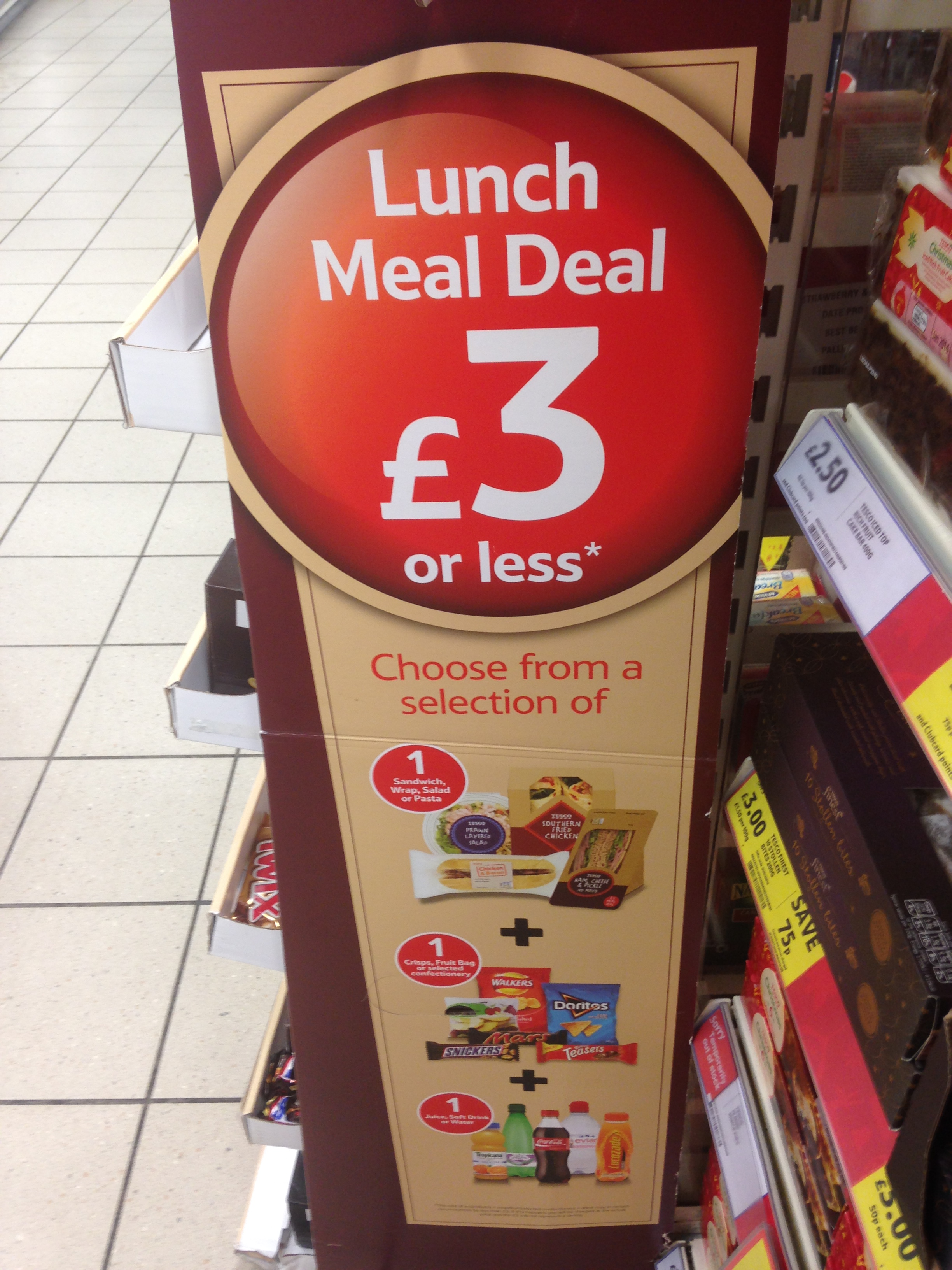 Tesco meal deals for two